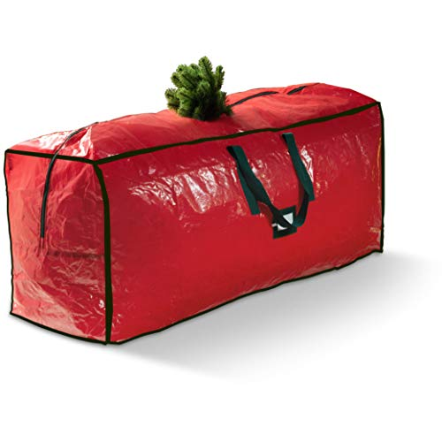 Christmas Tree Storage Bag - for Artificial Trees up- to 9-Ft. Tall - Durable Bag Waterproof Material With Stitched Reinforced Carrying Handles - Protects Against Dust Insects, & Moisture