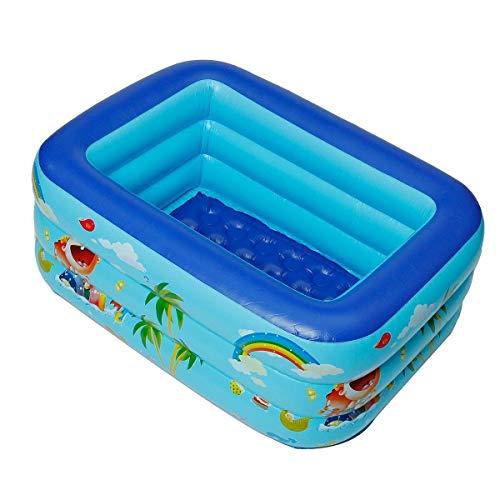 DJYD Inflatable Floating Swimming Bath Pool Toys Outdoor Children Paddling Bathtub Blue PVC Rectangle Wear-resistant Anti-slip (Color : 1.3 M) FDWFN (Color : 1.3 M)