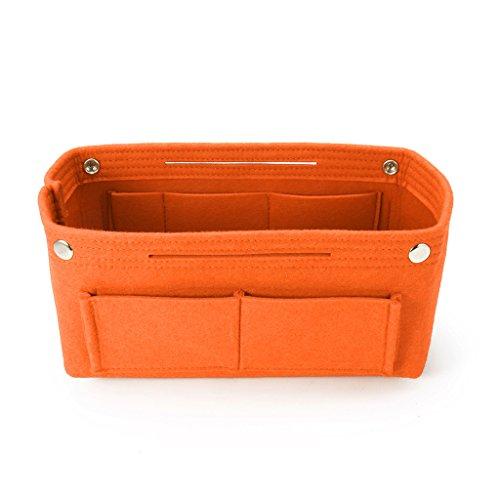 Generic Multifunktions-Handtasche Organizer Geldbörse Einsatztasche Filz Stoff Aufbewahrungstasche Orange