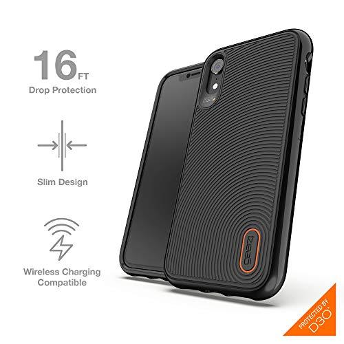 Gear4 Battersea Handyhülle mit verbessertem Stoßschutz [D3O-geschützt] Design für iPhone XR – Schwarz
