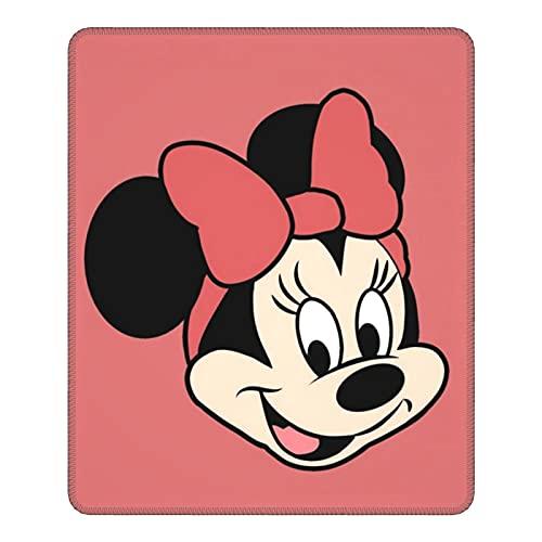Alfombrilla de ratón de Mickey Minnie Mouse de dibujos animados con base de goma antideslizante bordes cosidos para ordenadores, portátiles, oficina y hogar