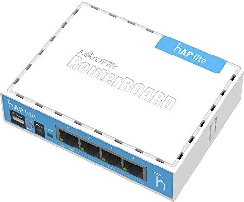 Mikrotik hAP lite Internal White WLAN access point - WLAN access points (10,100 Mbit/s, 32 MB, QCA9531 650MHz, 1.5 dBi, 3 W, White)