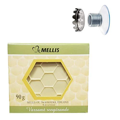 Seifenhalter mit Magnet by SudoreWell® plus original finnische Honigseife 90g