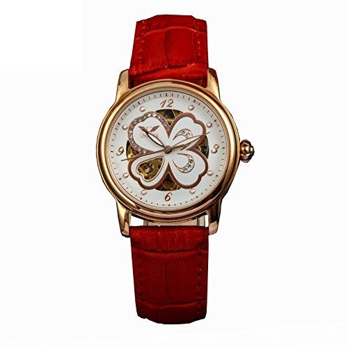 Mechanische Damen Leder Armband Uhren