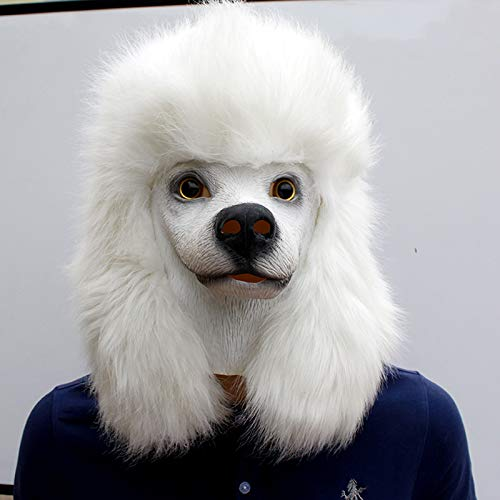 AARRM Neue Tier Masken Latex Gummi Humoristisch Maske Gesicht Kopfmaske für Halloween Weihnachten Kostüm Dekoration Party Maskerade,Poodle