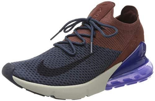 Nike Herren Air Max 270 Flyknit Fitnessschuhe, Mehrfarbig (Thunder Blue/Gridiron/Red Sepia 402), 44 EU