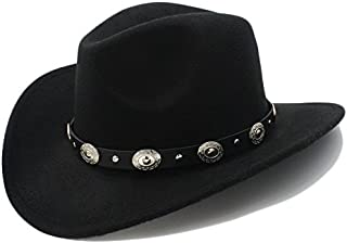 Lei Zhang Vintage Womem Men Western Cowboy Hat With Cowgirl Jazz Cap With Leather Toca Sombrero Cap