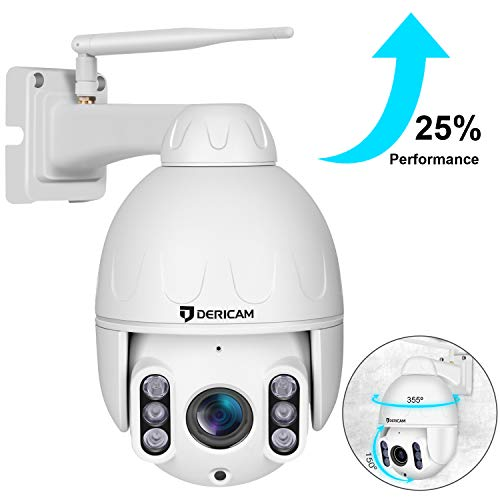 Dericam PTZ Camera Outdoor,1080P Wireless Security Camera, 4X Optical Zoom Pan Tilt Dome