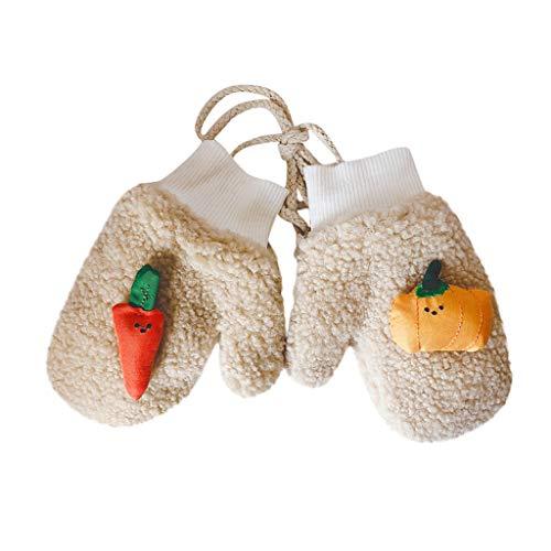 URSING 1pair Kinder Baby Winter Handschuhe weiche Koralle Fleece-Handschuhe Schöne Kleinkind-Fäustlinge Karotte Kürbis Cartoon Fausthandschuh für Mädchen und Jungen
