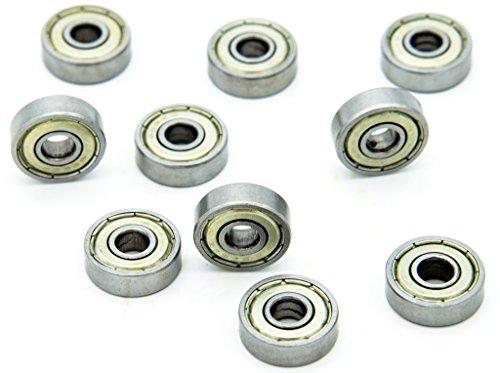 625ZZ Metallrillenkugellager, einreihig, 16mm x5 mmx5mm, 10 Stück
