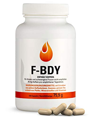 Vihado F-BDY – Kapseln für einen normalen Stoffwechsel mit Pflanzenstoffen und Vitaminen – anregend mit Grüner Kaffee Extrakt – normaler Kohlenhydrat- und Fettsäuren-Stoffwechsel mit Zink