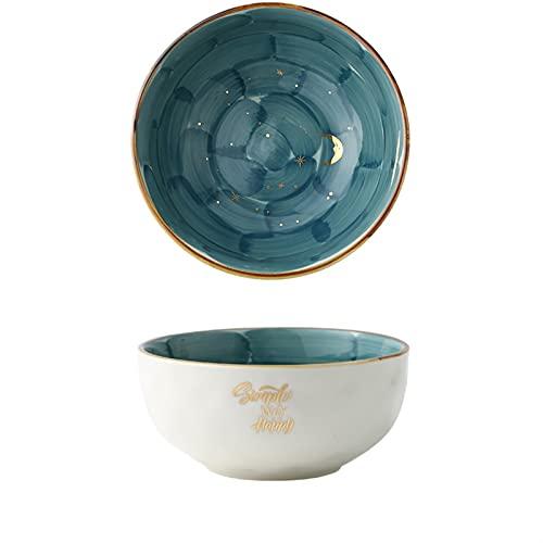 ZHANGNING Starry Sky Phnom PENH PENH Hecho a Mano Ensalada de cerámica Cerámica Cocina de cerámica Sopa Arroz Instantáneo Fideos Tazón Cuenco Vajilla Establecer Vajilla Hogar (Color : 6 Inches Bowl)