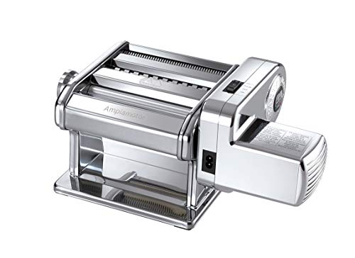 Marcato Atlas Pasta Maker with Motor, 150 mm, Chrome Plated Steel