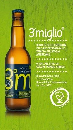 BIRRIFICIO RURALE - 3 MIGLIO Cerveza artesanal italiana (33 cl) - Confezione da 6 Bott.