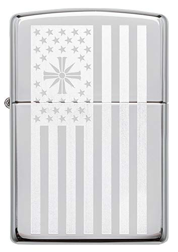 Zippo Far Cry Flag High Polish Chrome Pocket Lighter One Size