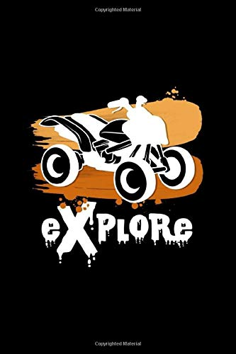 Explore: 6x9 Quad Bikes | lined | ruled paper | notebook | notes