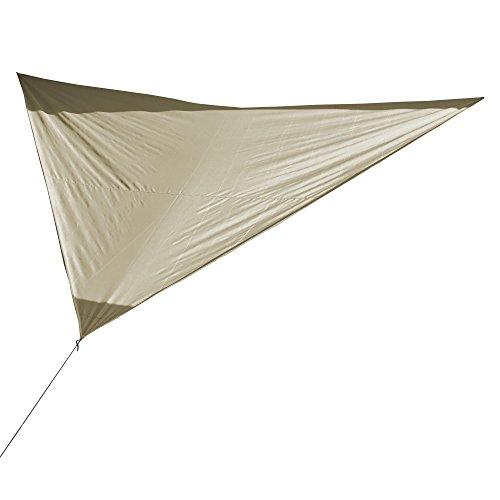 CampAir luifel driehoekig zonnescherm balkon, terras, tuin 360 x 360 x 360 cm, grijs