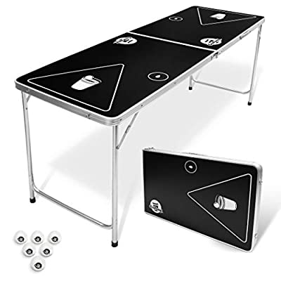 GoPong 6-Foot Portable Folding Beer Pong / Flip Cup Table (6 balls included) from GoPong
