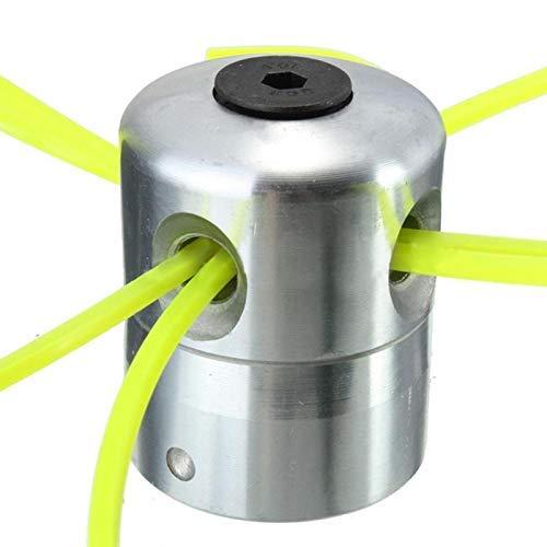 MZH Cabezal Cortador de césped de Aluminio con Cabezal Cortador de Cepillo de 4 líneas Accesorios para cortacésped Cabezal de línea de Corte para reemplazo de desbrozadora