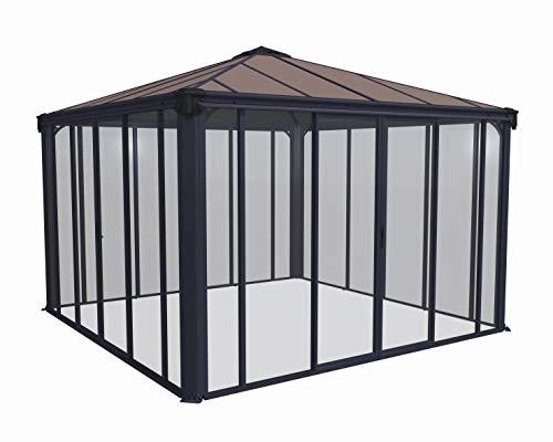 Palram Ledro Closed Garden Gazebo – Aluminium Frame Including Walls – Patio Shelter