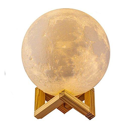 MAGICO 3D Stampata lampada luna Piena Lampada Moon Luna Ricarica USB Decorativo Tavolo LED Luce Notturna per Bambini Toccare il Controllo Luminosità Regolabile 10cm