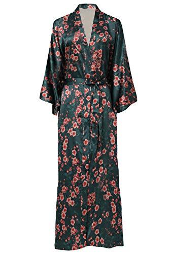ArtiDeco Kimono Floral Robe Traje de Boda Kimono de Seda Túnica de Satén 1920s Ropa de Dormir 53 '
