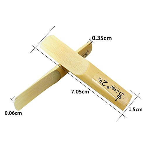 Alician 10 Pcs Alto bE Saxophone Reeds Bamboo 2-1/2 Sax Reed Strength 2.5 Musical Instrument Parts & Accessories
