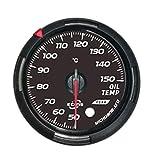 JCYM Messgeräte für Autos Öltemperaturanzeige Steuergerät Set Bernstein/Rot 60mm Automotive-Messgeräte