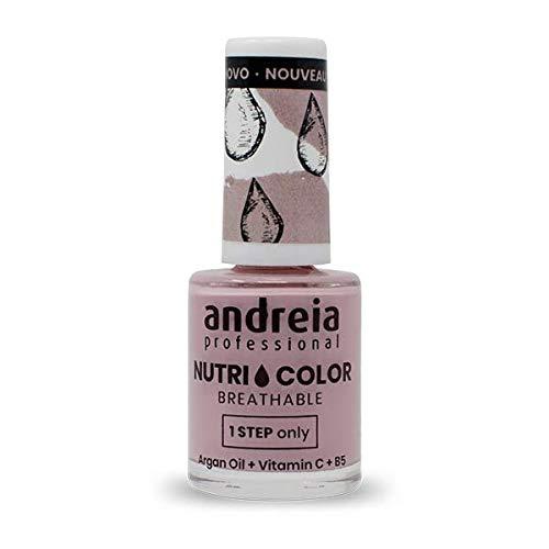 Andreia Professional NutriColor - Esmalte de uñas vegano transpirable - NC5 Pink 10.5ml