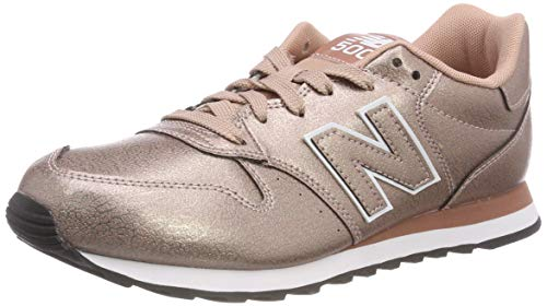 New Balance Damen 500 Sneaker, Gold (Metallic Rose Metallic Rose), 42.5 EU