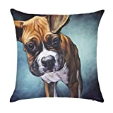 Realistic Dog Pattern Cushion Covers Pillowcase 45 x 45cm Cushion Cover Without Cushion Pad Inner Insert Boxer Dog