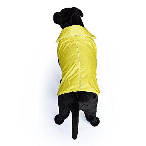 Balock Schuhe Haustier Winterjacken,Pet Outdoor Winter Waterproof Regenjacke Fleece reflektierende Jacken,Winter Wasserdicht Haustier Jacke Hundemantel,Warm Winddicht Hundejacke (Gelb, XXXXL)