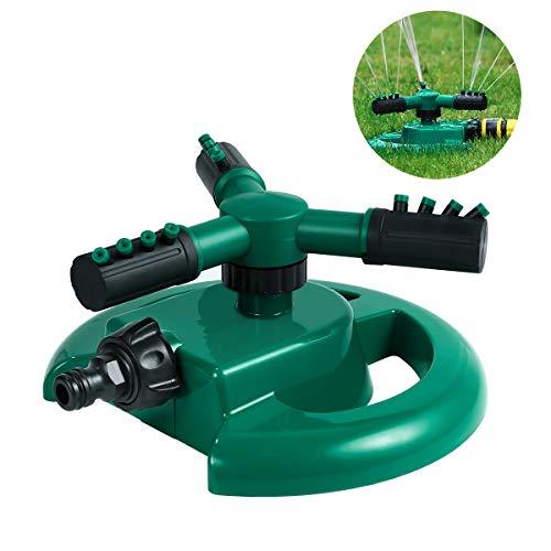 UKCOCO Rasen Sprinkler Garten Sprenger Wasser dauerhafter Dreharm drei Wasser-Sprinkler
