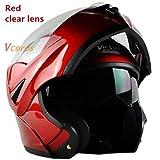 Dgtyui Casco moto flip Casco modulare da uomo Doppio obiettivo interno da donna Parasole interno casco rimovibile - 3 X XL