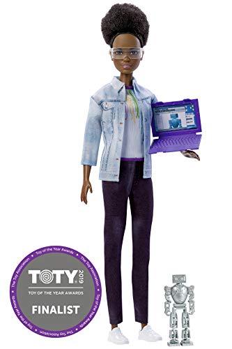 Barbie Quiero Ser ingeniera robótica, muñeca afroamericana con accesorios (Mattel FRM10)