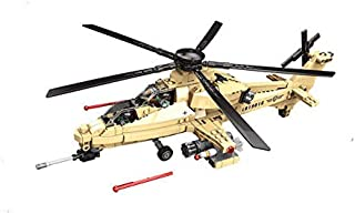 General Jim's Military Fighter WZ-10 Model Helicopter Building Blocks Set - WZ10 Helicopter Brick Building Toy Set