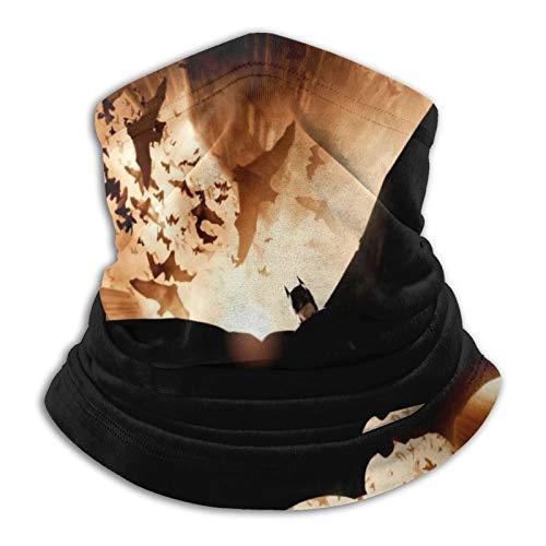 Custom made 2012 Batman - Polaina para el cuello de microfibra multifuncional a prueba de polvo, pasamontañas, bandanas, calentador de cuello bufanda para deportes al aire libre y clima frío