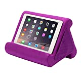 Flippy Fun Size, Compact Multi-Angle Soft Pillow Lap Stand for Mini iPads, Tablets, eReaders, Smartphones, Books, for All Ages, Easy to Store and Travel with (Orchid You Not, Single)