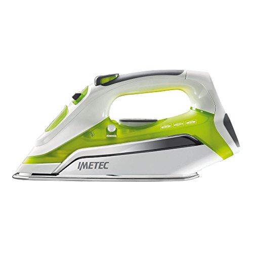 Imetec 9587 Plancha de vapor, 2200 W, 0.35 litros, Blanco y verde