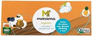 Barrinha de Cereal Orgânica Monama Abacaxi Blueberry E Coco 75g