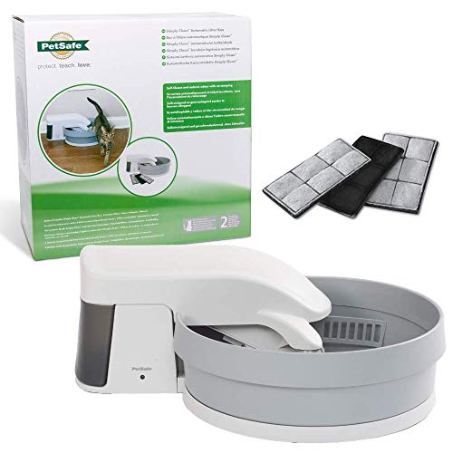 PetSafe Simply Clean Self-Cleaning Automatic Cat Litter Box, Uses Clumping Cat Litter, No Scooping,...