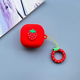 LKDEPO Cute Silicone Case Cover and Fruit Skin Compatible for Galaxy Buds Live, Full Body Protection with Funny Fruit Desi...