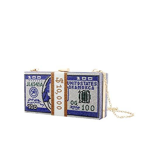 ZCPCS Bolsos de Hombro Bolsas de Noche de Diamantes de imitación Bolsos de la Fiesta de la Fiesta Bolsas de Embrague de Bolsas de Cena de Boda Bolsos de Bolsos Mini Monedero