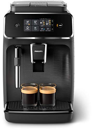 Philips 2200 Series Fully Automatic Espresso Machine w/ Milk Frother, Black, EP2220/14