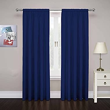 PAIRS TO GO 15110080X084NVY Cadenza 80-Inch by 84-Inch Microfiber Window Panel Pair, Navy