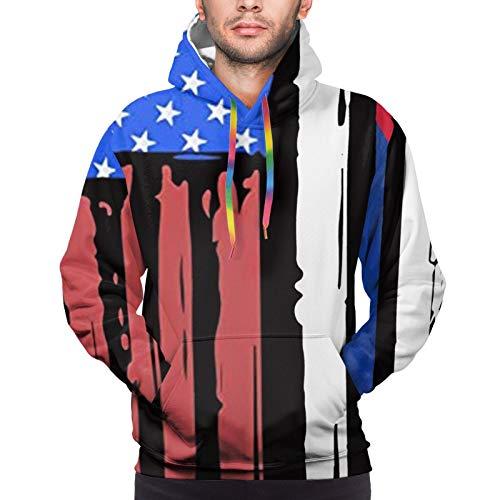 American Half Cuba Flag Youth 3D Printed Hooide Sweatshirt with Pocket XXXL