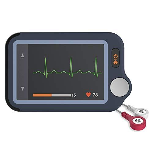 ViATOM Monitor de ECG, Monitor Cardíaco con ECG, Dispositivo Cardíaco Bluetooth con iOS y Aplicación Android, Funciona con Smartphone y PC, Conveniente Monitor Portátil de Ritmo Cardíaco