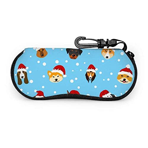 Estuche para gafas de gafas Casos de gafas de dibujos animados sombrero de perro mascotas deportes caso suave con cremallera de neopreno gafas de sol bolsa protectora bolsa