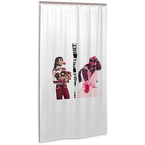 Lou Chapman 36X72Inch Showe Vorhang-Rae Sremmurd Musikband Stall Duschvorhang Stoff Bad Vorhang für Home Hotel mit Haken wasserdicht