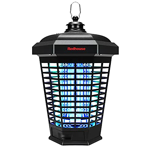 Redhouse Mosquito & Bug Zapper: Portable Electric 18W - 4200V Waterproof UV Light Indoor & Outdoor Pest Killer for Home Patio & Backyard